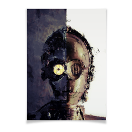 """Плакат A3(29.7x42) """"C-3PO"""" - star wars, звездные войны, стар варс, р2д2, ситрипио"""