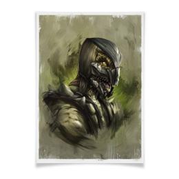 "Плакат A3(29.7x42) ""Mortal Kombat X"" - mortal kombat, рептилия, mk, reptile"
