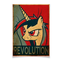"Плакат A3(29.7x42) ""OBEY Revolution Cadence"" - mlp, my little pony, obey, cadence, revolution"
