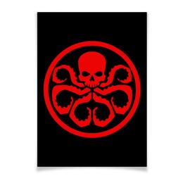 "Плакат A3(29.7x42) ""Avengers Hydra / Мстители Гидра"" - арт, мстители, avengers, hydra, гидра"