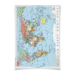 """Плакат A3(29.7x42) """"Карта мира"""" - мир, страны, карта, политика, география"""