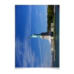 """Плакат A3(29.7x42) """"Статуя Свободы"""" - нью-йорк, америка, статуя свободы"""