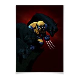 "Плакат A3(29.7x42) ""Росомаха"" - комиксы, росомаха, марвел, wolverine, логан"