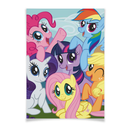 "Плакат A3(29.7x42) ""My Little Pony"" - rainbow dash, my little pony, applejack, friendship is magic, twilight sparkle"