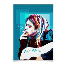 "Плакат A3(29.7x42) ""Курт Кобейн"" - арт, nirvana, kurt cobain, курт кобейн, нирвана"