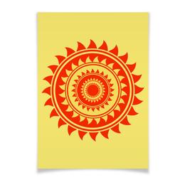 "Плакат A3(29.7x42) ""Солнце"" - лето, summer, солнышко, sun, орнамент"