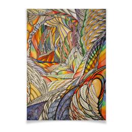 "Плакат A3(29.7x42) ""тропик"" - арт, акварель, tropics, тропик"