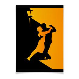 "Плакат A3(29.7x42) ""Танго в ночи"" - музыка, танец, ночь, танго"