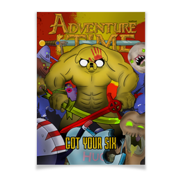 "Плакат A3(29.7x42) ""Adventure Time - Got Your Six"" - adventuretime, время приключений, джейк, 5fdp, fivefingerdeathpunch"