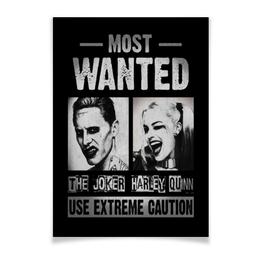 """Плакат A3(29.7x42) """"Отряд самоубийц. Джокер и Харли Квинн"""" - комиксы, джокер, харли квинн, отряд самоубийц, suicide squad"""