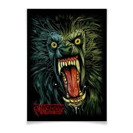 """Плакат A3(29.7x42) """"Оборотень/Werewolf"""" - страх, пасть, ужасы, волк, оборотень"""