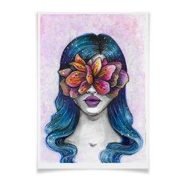 """Плакат A3(29.7x42) """"Весна"""" - праздник, девушка, цветы, 8 марта, весна"""