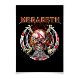"Плакат A3(29.7x42) ""Megadeth"" - megadeth, thrash metal, хэви метал, heavy metal, мегадэт"