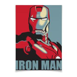 """Плакат A3(29.7x42) """"Железный человек"""" - комиксы, марвел, iron man, tony stark, тони старк"""