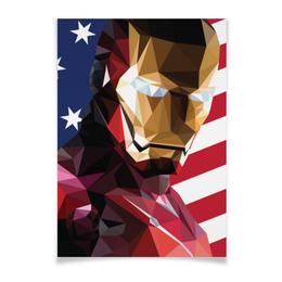 """Плакат A3(29.7x42) """"Железный человек"""" - марвел, iron man, tony stark, тони старк, жч"""
