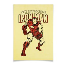 """Плакат A3(29.7x42) """"Железный человек"""" - комиксы, супергерои, мстители, железный человек, iron man"""