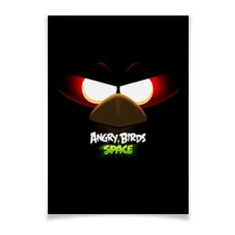 "Плакат A3(29.7x42) ""Space (Angry Birds)"" - игры, space, мультфильм, птица, angry birds"