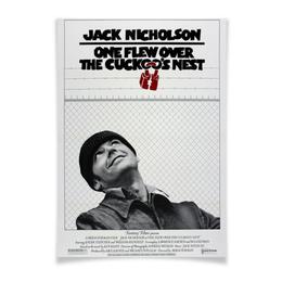 "Плакат A3(29.7x42) ""Пролетая над гнездом кукушки"" - псих, джек николсон, николсон, пролетая над гнездом кукушки, one flew over the cuckoo's nest"