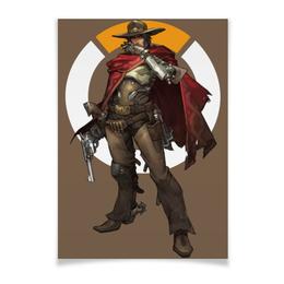 "Плакат A3(29.7x42) ""McCree Overwatch / МАККРИ Овервотч"" - игры, overwatch, mccree, овервотч, маккри"