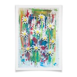 """Плакат A3(29.7x42) """"Ромашки"""" - цветы, цвета, 8 марта, весна, абстракция"""
