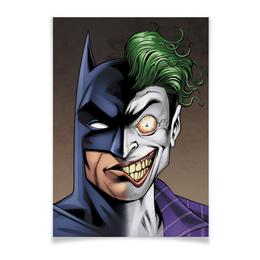 "Плакат A3(29.7x42) ""Бэтмен и Джокер"" - joker, комиксы, batman, dc, dc comics"