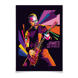 "Плакат A3(29.7x42) ""Джеймс Хэтфил. Metallica"" - музыка, metal, metallica, james hetfield, джеймс хэтфил"