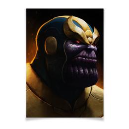 "Плакат A3(29.7x42) ""Танос"" - comics, комиксы, мстители, марвел, thanos"