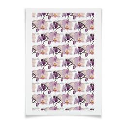 """Плакат A3(29.7x42) """"ветка орхидеи"""" - арт, акварель, авторская работа, орхидея"""