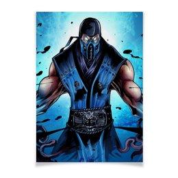 """Плакат A3(29.7x42) """"Mortal Kombat X (Sub-Zero)"""" - воин, боец, mortal kombat, sub-zero"""