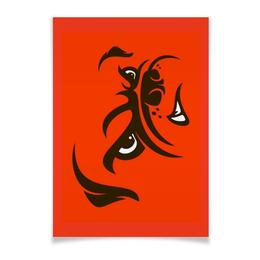 "Плакат A3(29.7x42) ""Бульдог"" - юмор, рисунок, бульдог, злая собака"