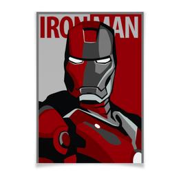 """Плакат A3(29.7x42) """"Железный человек"""" - комиксы, марвел, iron man, тони старк, жч"""