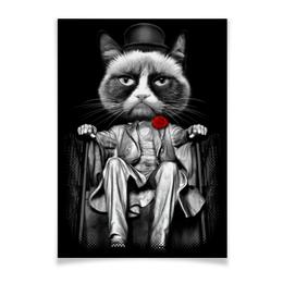 "Плакат A3(29.7x42) ""Мафия"" - приколы, коты, мафия"