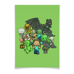 "Плакат A3(29.7x42) ""Майнкрафт"" - игры, minecraft, майнкрафт, геймерские"