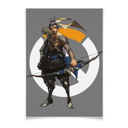 "Плакат A3(29.7x42) ""Overwatch Hanzo / Овервотч Хандзо"" - игры, overwatch, овервотч, hanzo, хандзо"