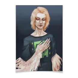 """Плакат A3(29.7x42) """"Химера. """" - парень, рисунок, химера, плакат, перья"""