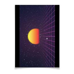 """Плакат A3(29.7x42) """"Ретровейв"""" - ретро, 80-е, вебпанк, глитч, ретровейв"""