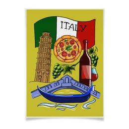 """Плакат A3(29.7x42) """"Италия. Любовь"""" - италия, путешествия, рим, вино, пицца"""
