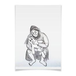"""Плакат A3(29.7x42) """"Мать. Женщина и кукла"""" - кукла, женщина, мать, голем, сумасшествие"""