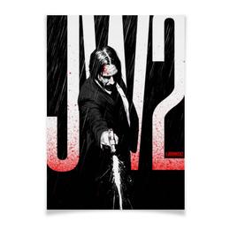 """Плакат A3(29.7x42) """"Джон Уик / John Wick"""" - джон уик, john wick, киану ривз, комиксы, кровь"""