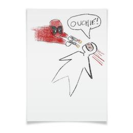"Плакат A3(29.7x42) ""Рисунок Дедпула"" - deadpool, дедпул"