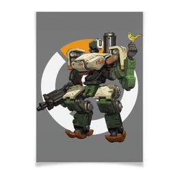 "Плакат A3(29.7x42) ""Overwatch Bastion / Овервотч Бастион"" - игры, overwatch, овервотч, bastion, бастион"
