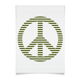 """Плакат A3(29.7x42) """"Пацифик"""" - стиль, мир, peace, полоски, пацифист"""