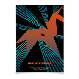 "Плакат A3(29.7x42) ""Бегущий по лезвию / Blade Runner"" - фантастика, бегущий по лезвию, blade runner, ридли скотт, нуар"