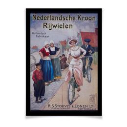 "Плакат A3(29.7x42) ""Велосипедисты Ретро"" - ретро, велоспорт, голландия, старые плакаты, старый лад"