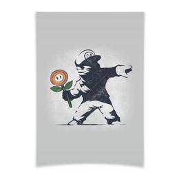 """Плакат A3(29.7x42) """"Граффити Марио"""" - арт, граффити, banksy, super mario, супер марио"""
