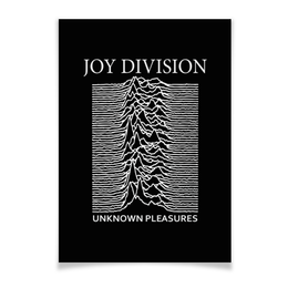 "Плакат A3(29.7x42) ""Joy Division"" - joy division, unknown pleasures, группы, ian curtis, пост-панк"