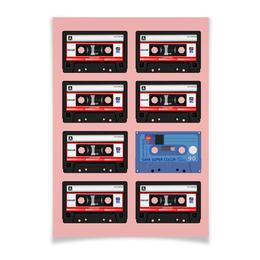 """Плакат A3(29.7x42) """"Ретро"""" - ретро, кассета"""