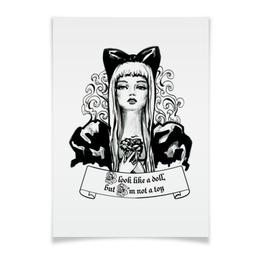 """Плакат A3(29.7x42) """"Фэшн иллюстрация Кукла"""" - стильный, классный, фэшн, фешн, модный"""