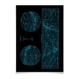 """Плакат A3(29.7x42) """"Карта звёздного неба"""" - карта, дизайн, звёзды"""