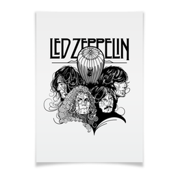 "Плакат A3(29.7x42) ""Led Zeppelin"" - музыка, рок, группы, rock and roll, led zeppelin"
